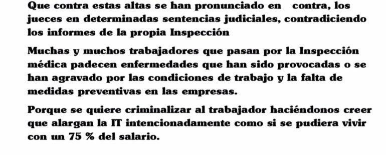 #Lanzarote Concentración contra la inspección médica