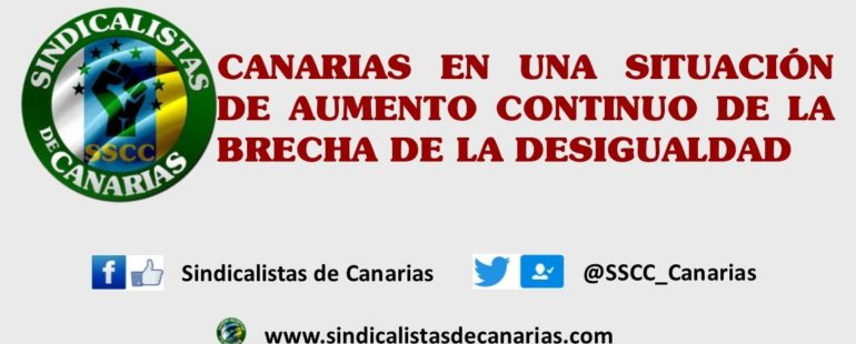 Canarias, en una situación de aumento continuo de la brecha de la desigualdad