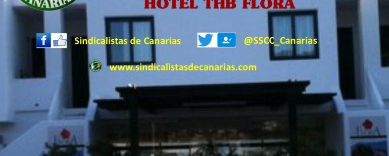 Concentración contra el acoso y persecución a la libertad sindical en el hotel THB Flora