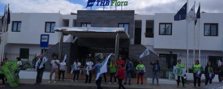 Protesta y denuncia contra el acoso y persecución a la libertad sindical en la THB Flora
