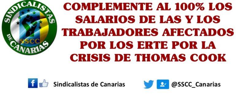 Sindicalistas de Canarias propone un rescate a las trabajadoras y trabajadores afectados por los ERTE por la crisis de Thomas Cook