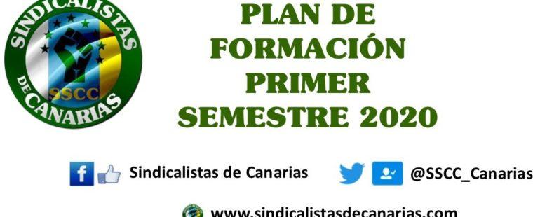 Plan de Formación primer semestre 2020 Sindicalistas de Canarias #SSCC