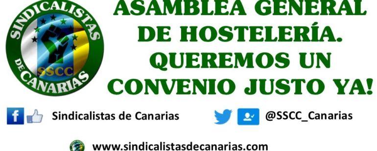 Asamblea General de Hostelería Sindicalistas de Canarias #SSCC