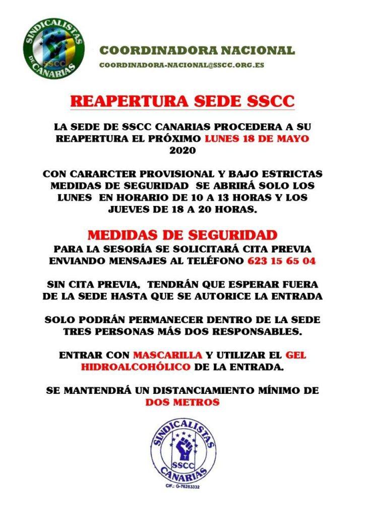 REAPERTURA SEDE SSCC