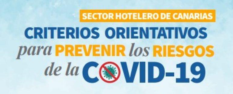 Criterios orientativos en prevención de riesgos laborales frente a la COVID-19 en el sector hotelero de Canarias.