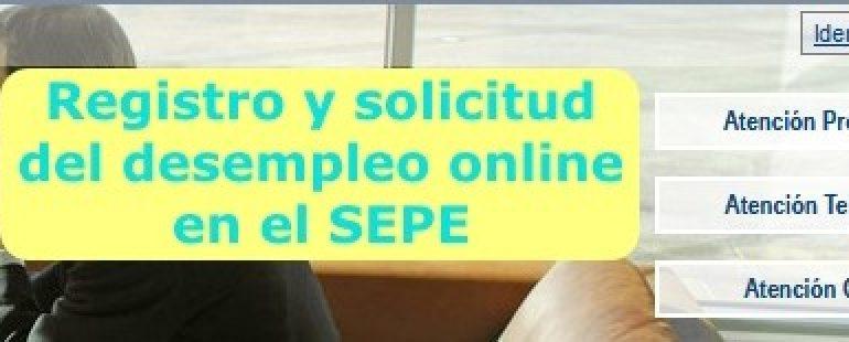 Registro y solicitud del desempleo online en el SEPE