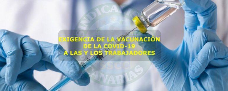 Exigencia de la vacunación de la covid-19 a las y los trabajadores